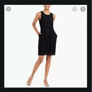 NWT J. Crew Black Lace Dress K3501 - Size 2